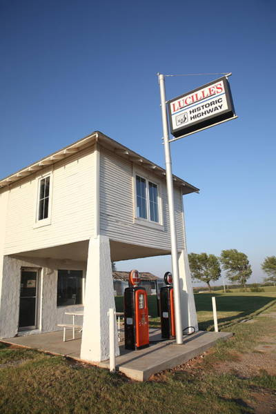 Photograph - Route 66 - Lucille's Gas Station by Frank Romeo