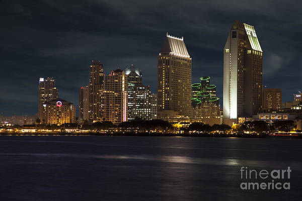 Photograph - San Diego Skyline  by Timothy Johnson