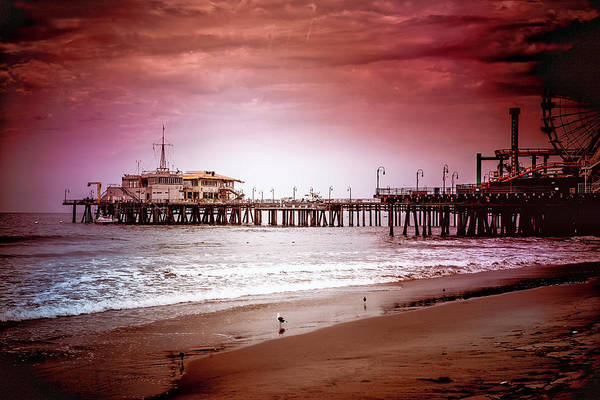 Photograph - Santa Monica Pier Collection- 10/36 by Gene Parks