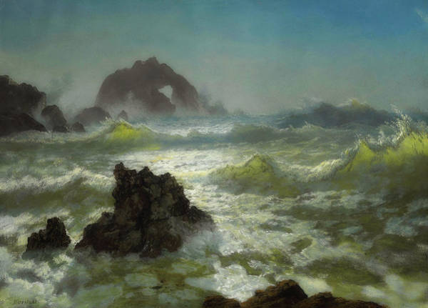 Outcrop Painting - Seal Rock, California by Albert Bierstadt