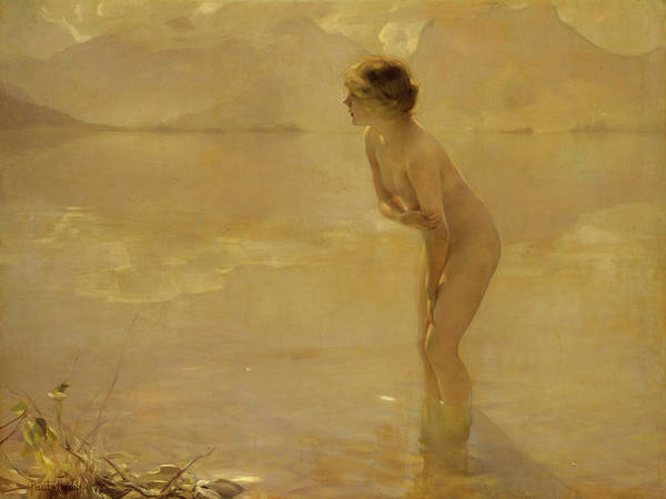 Area Painting - September Morn by Paul Chabas