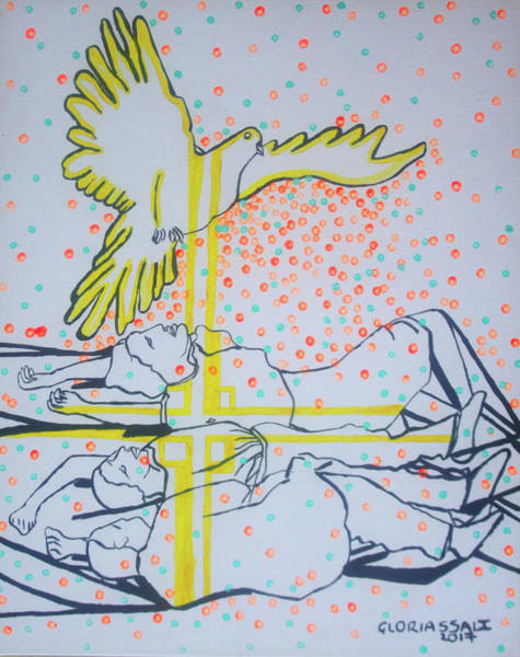 Painting - Slain In The Holy Spirit by Gloria Ssali