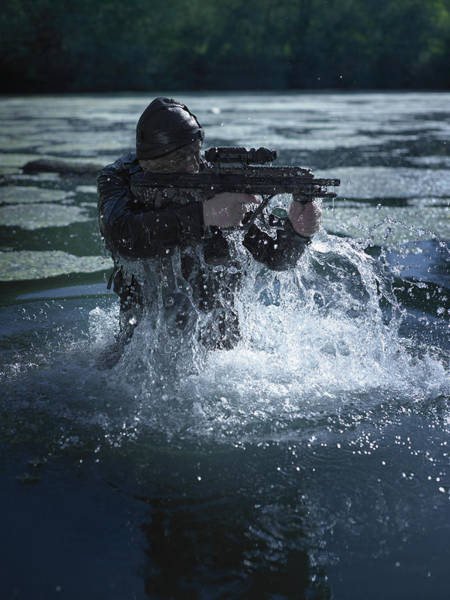 Navy Seal Photograph - Special Operations Forces Soldier by Tom Weber
