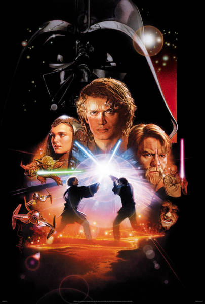 Star Wars Wall Art - Digital Art - Star Wars Episode IIi - Revenge Of The Sith 2005 by Geek N Rock