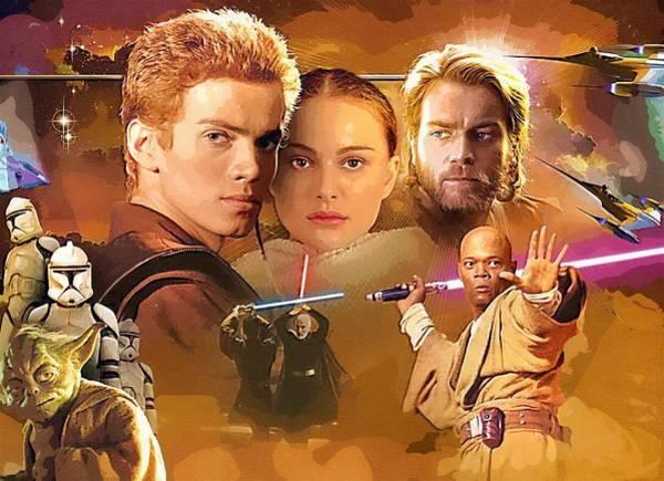 Star Wars Episode 3 Wall Art - Digital Art - Star Wars Old Poster by Larry Jones