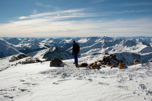 Photograph - Summit Of Mount Elbert Colorado In Winter by Steve Krull