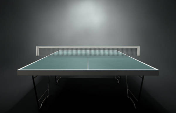 Ping-pong Digital Art - Table Tennis Table by Allan Swart