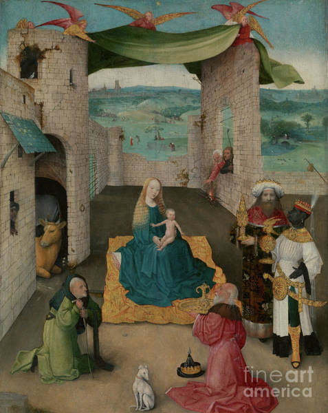 Tribute Painting - The Adoration Of The Magi by Hieronymus Bosch