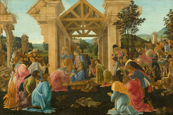Redeemer Wall Art - Painting - The Adoration Of The Magi by Sandro Botticelli