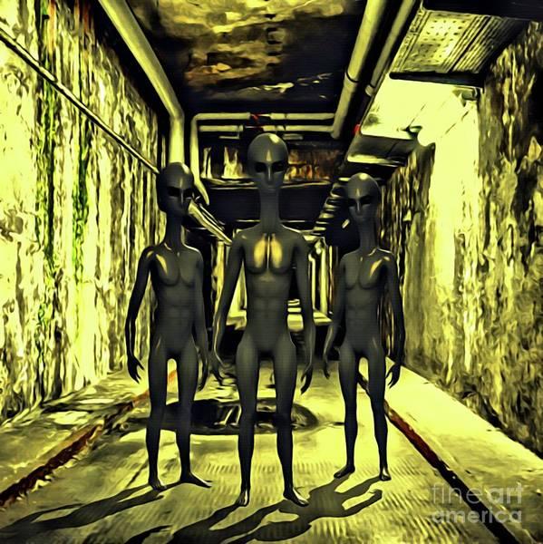 Scifi Digital Art - The Alien Conspiracy by Raphael Terra