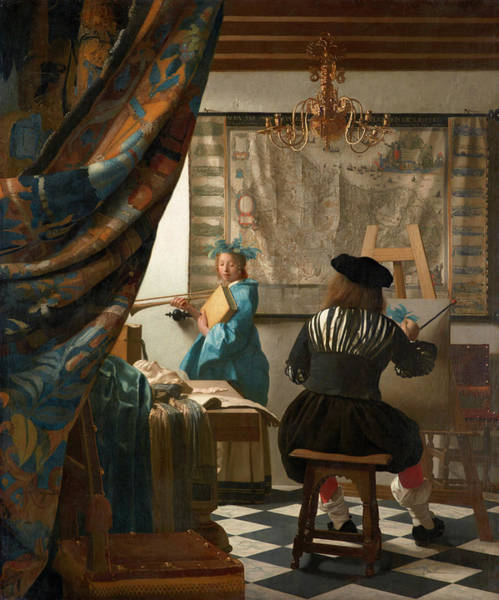 Wall Art - Painting - The Art Of Painting by Johannes Vermeer