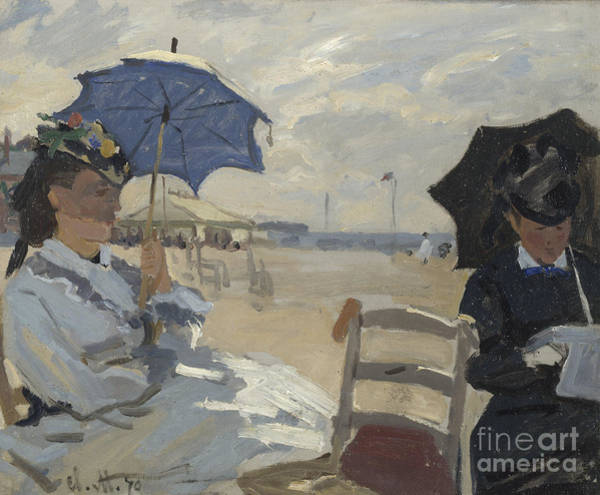Painting - The Beach At Trouville By Monet by Claude Monet
