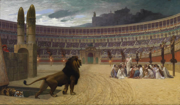 Circus Painting - The Christian Martyrs' Last Prayer by Jean-Leon Gerome