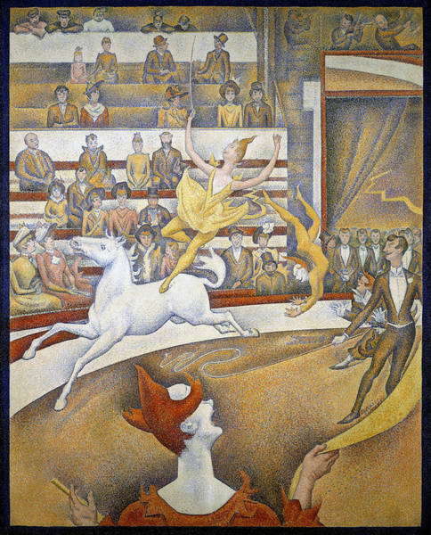 Trapeze Painting - The Circus by Georges Seurat