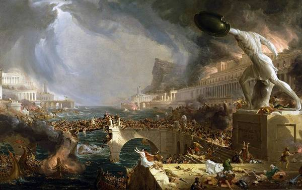 Photograph - The Course Of Empire The Savage State by Thomas Cole