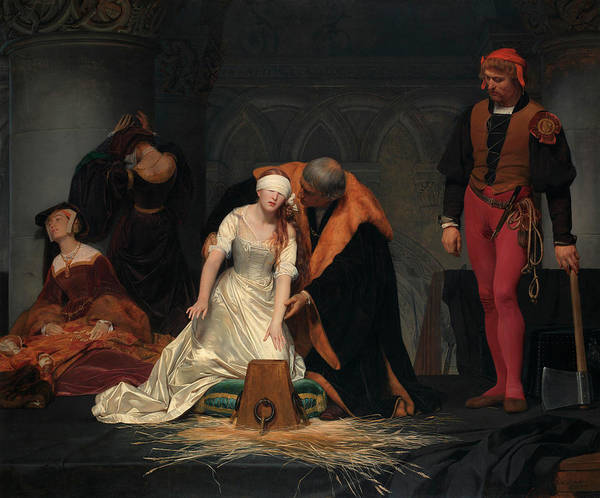 Beheaded Wall Art - Painting - The Execution Of Lady Jane Grey by Paul Delaroche