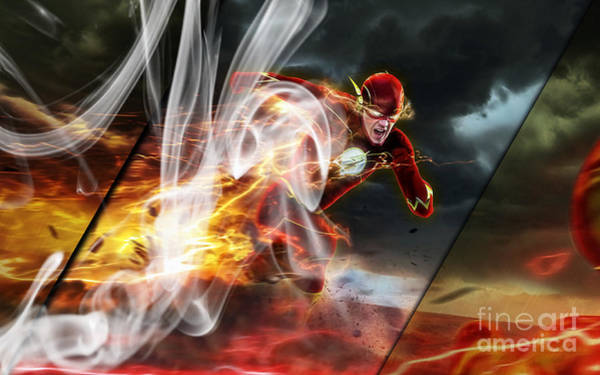 Super Hero Mixed Media - The Flash Collection by Marvin Blaine