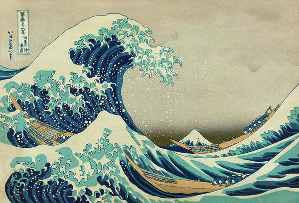 Hokusai Wave Wall Art - Painting - The Great Wave Off Kanagawa by Katsushika Hokusai