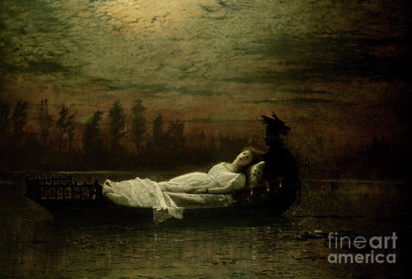 Atmospheric Painting - The Lady Of Shalott by John Atkinson Grimshaw