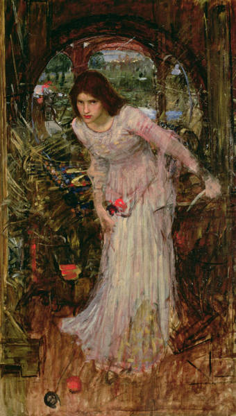 Archway Painting - The Lady Of Shalott by John William Waterhouse