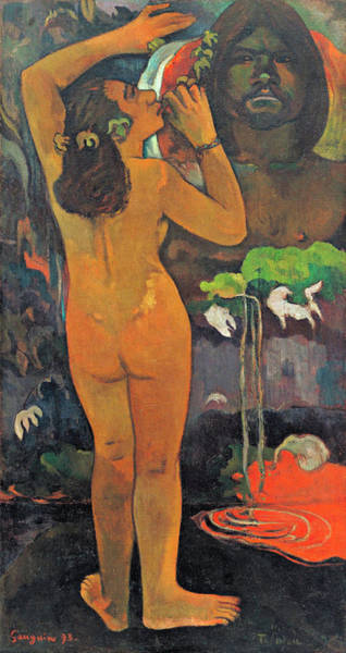 Wall Art - Painting - The Moon And The Earth by Paul Gauguin
