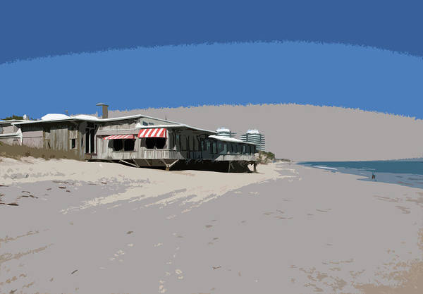 Buried Treasure Painting - The Ocean Grill At Vero Beach In Florida by Allan  Hughes