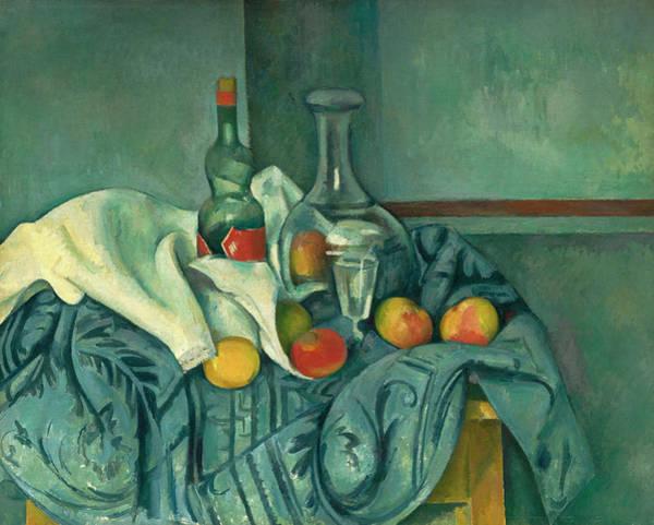 Apple Peel Wall Art - Painting - The Peppermint Bottle by Paul Cezanne