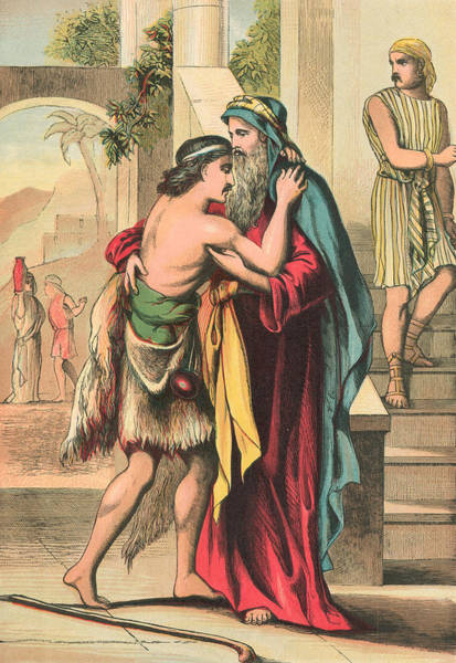 Tender Moment Wall Art - Painting - The Return Of The Prodigal Son by English School