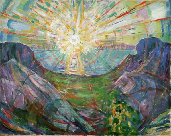 Wall Art - Painting - The Sun by Edvard Munch