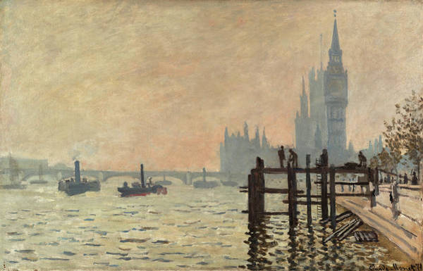 Westminster Painting - The Thames Below Westminster by Claude Monet