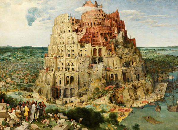 Wall Art - Painting - The Tower Of Babel  by Pieter Bruegel the Elder