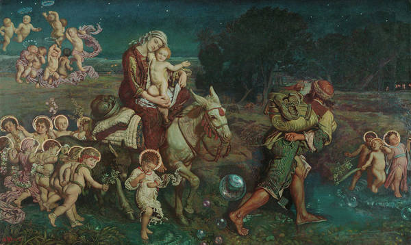 Pre-raphaelite Brotherhood Painting - The Triumph Of The Innocents by William Holman Hunt