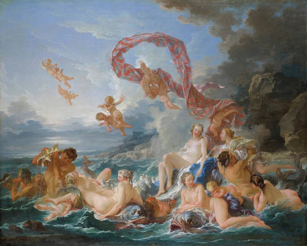 Allegory Photograph - The Triumph Of Venus by Francois Boucher