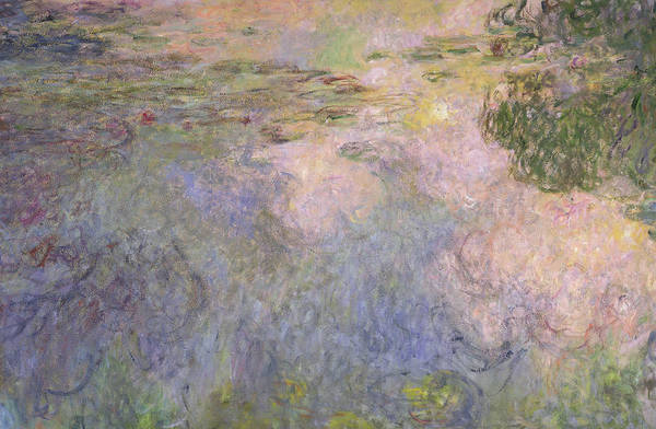 Plant Reproduction Painting - The Waterlily Pond by Claude Monet