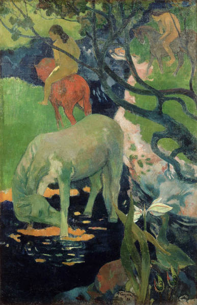 Wall Art - Painting - The White Horse by Paul Gauguin