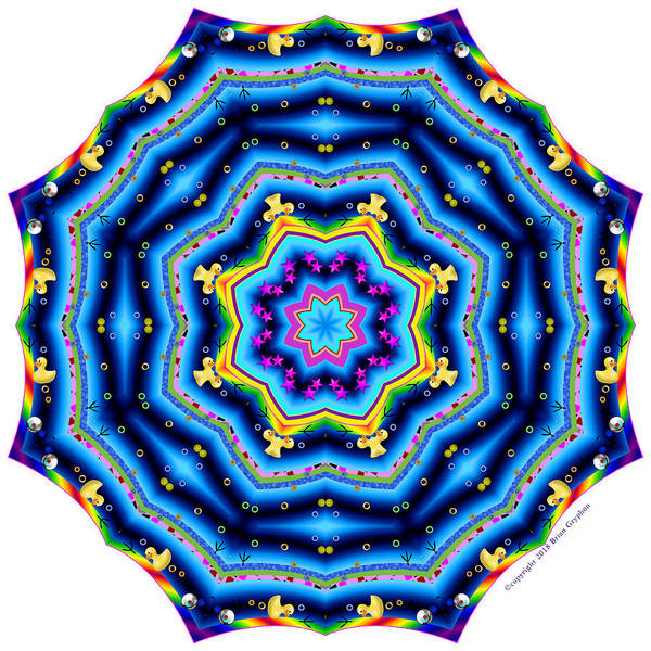 Digital Art - 6 To 60 Kaleidoscope by Brian Gryphon