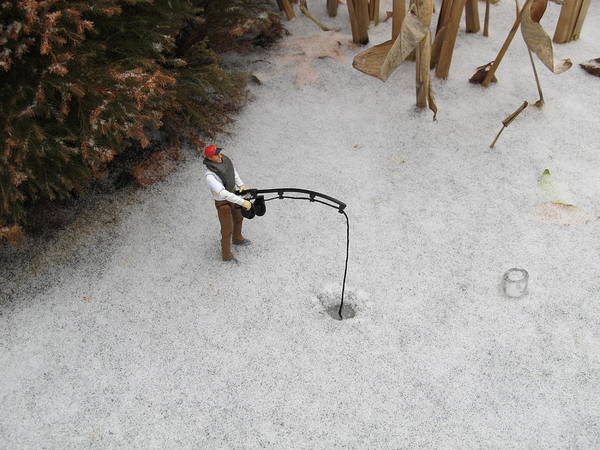 Photograph - Toy Ice Fishing by Digital Art Cafe