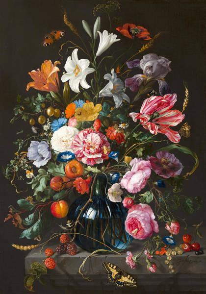 Wall Art - Painting - Vase Of Flowers by Jan Davidsz de Heem