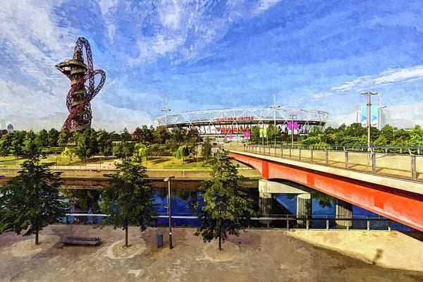 Olympic Club Photograph - West Ham Olympic Stadium And The Arcelormittal Orbit Art by David Pyatt