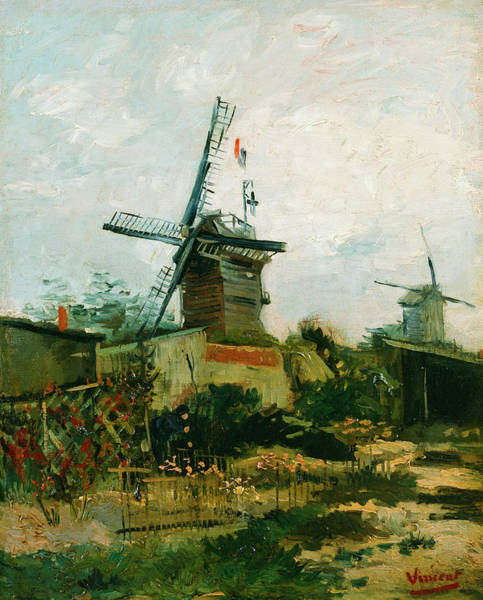 Windmill Painting - Windmills On Montmartre by Vincent van Gogh