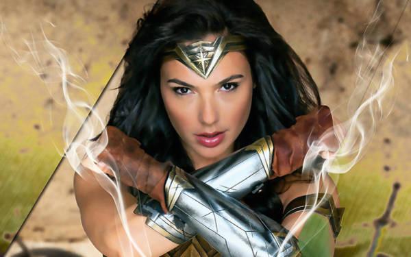Super Hero Mixed Media - Wonder Woman Art by Marvin Blaine