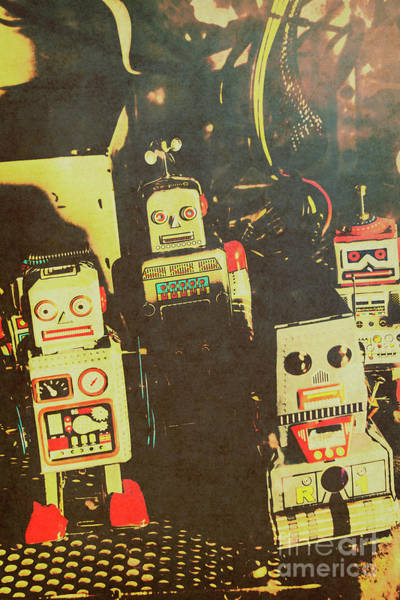 Sixties Photograph - 60s Cartoon Character Robots by Jorgo Photography - Wall Art Gallery