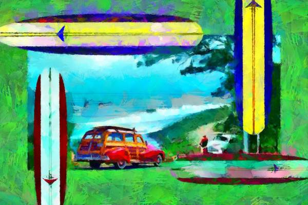 Digital Art - 60's Surfing by Caito Junqueira