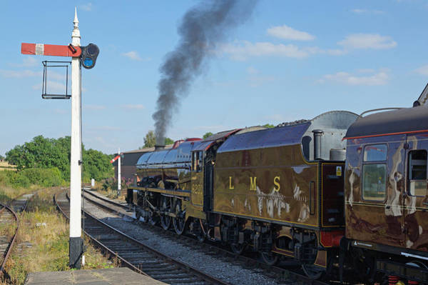 Photograph - 6201 Princess Elizabeth At Swanwick Station by David Birchall