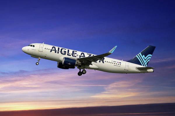 Wall Art - Photograph - Aigle Azur Airbus A320-214 by Smart Aviation