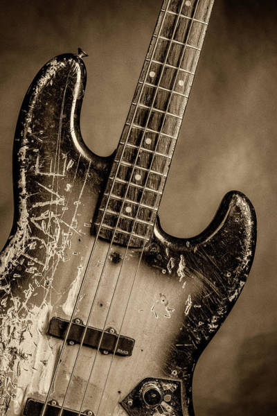 Photograph - 63.1834 011.1834c Jazz Bass 1969 Old 69 by M K Miller