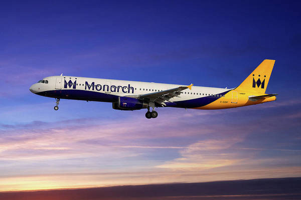 Wall Art - Photograph - Monarch Airbus A321-231 by Smart Aviation