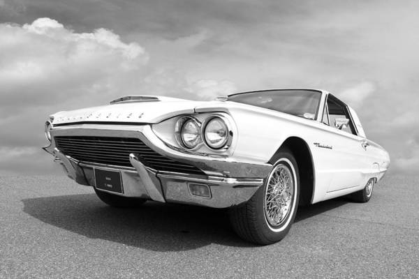 Photograph - 64 T Bird In Black And White by Gill Billington