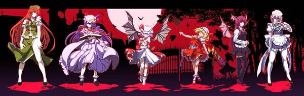 Night Digital Art - Touhou by Super Lovely