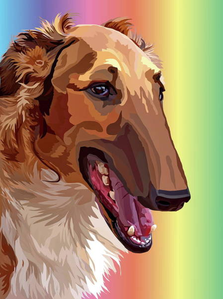 Sighthound Mixed Media - #651514 by Alexey Bazhan